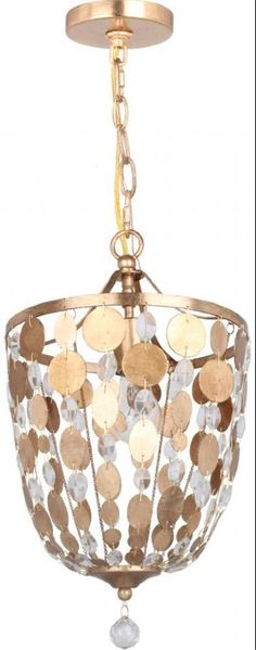 The color and finish of the medallions on this Bella pendant light available at Lighting (One) of Cincinnati is a posh way to do gold the right way with your lighting. See some different shapes and configurations with the same design style in Lighting (One)'s online catalog:   www.catalog.lightingoneofcincinnati.com/one-light-antique-gold-up-pendant/SKU-2GF82