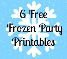 If you haven't had your fill of Frozen just yet, here's a round-up of some great (and free!) Frozen printables!