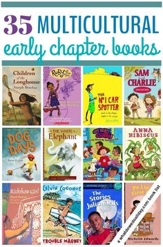 Multicultural chapter books for children ages 6 to 10 with a diverse group of characters. Book list includes a variety of genres at an early reading level.