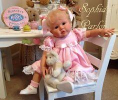 """NEW Reborn Baby Girl 24"""" Toddler Doll Emily Grace Jacobsen Glass Eyes Germany"""