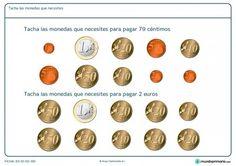 Ficha de elegir dinero necesario para Primaria Special Education, Maths, Money, Paper, Money Activities, Kids Math, Reading Comprehension