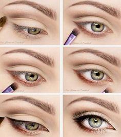 eye makeup for brown eyes ; eye makeup for blue eyes ; eye makeup tips ; eye makeup for green eyes Natural Eye Makeup, Eye Makeup Tips, Makeup Hacks, Skin Makeup, Makeup Inspo, Makeup Inspiration, Beauty Makeup, Makeup Ideas, Day Eye Makeup