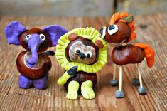 Adorable Chestnut animals. Get crafty with nature this Autumn! Love working with conkers. So fun! Diy Projects For Fall, Easy Fall Crafts, Fall Crafts For Kids, Toddler Crafts, Preschool Crafts, Diy For Kids, Kids Crafts, Arts And Crafts, Art Crafts
