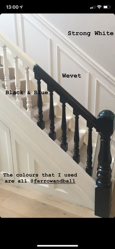 Hallway Wall Colors, Newel Posts, Bannister, Stairs, Colours, Blue, Design, Home Decor, Stairway