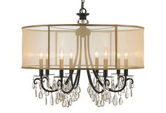 "Hampton Large Chandelier, English Bronze - for dining room in medium (24"" size)"