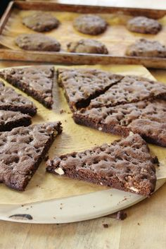 Double Chocolate Giant Cookie - butter, oil, brown sugar, sugar, egg, whole wheat pastry flour, cocoa powder, dark chocolate chips, walnuts