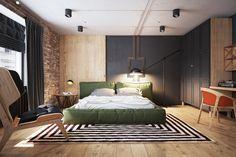 Casinha colorida: Um loft Industrial Chic bem humorado