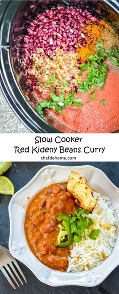 Creamy Kidney Beans Curry in Slow Cooker | chefdehome.com