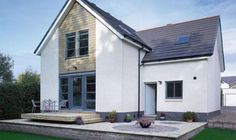 This budget build by Gordon Aitken is a stylish contemporary home, which was achieved largely on a DIY basis, resulting in astonishingly low build costs. Bungalow Exterior, Bungalow Renovation, Bungalow Homes, Bungalow Designs, House Cladding, Exterior Cladding, Wood Cladding, Bungalow Extensions, House Extensions