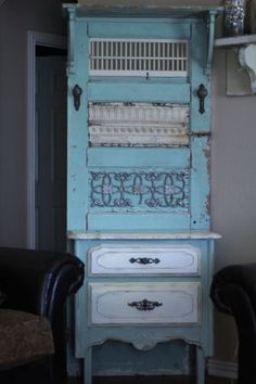 Shabby Hall Tree- totally building this out of a door!