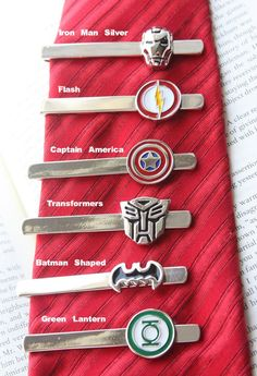 Super Hero Tie Clips - Find all 23 Styles at http://www.groopdealz.com/