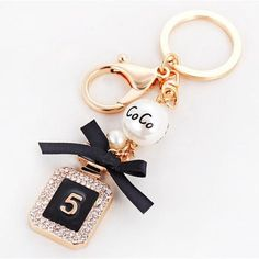 Coco Chanel Perfume Luxury Bottle Key Chain