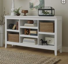 home accents pieces Carson Horizontal Bookcase with Adjustable Shelves White - Threshold Office Desk Organization, Horizontal Bookcase, Low Bookcase, Bookcase White, Tv Stand Bookshelf, Cheap Bookshelves, Small Bookshelf, Billy Bookcases, Home Decor Ideas