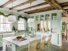 This farmhouse kitchen has a secret: It's only two years old! Here's how to serve up old-fashioned character in a brand-new space.: