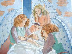 Criança com anjos, 1949 Augustin Rouart (França, 1907-1997) têmpera sobre tela, 64 x 80 cm Museu dos anos 30, Paris