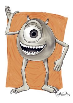 Mike Wazowski from Monsters, Inc Digital Drawing by logan7ms on DeviantArt