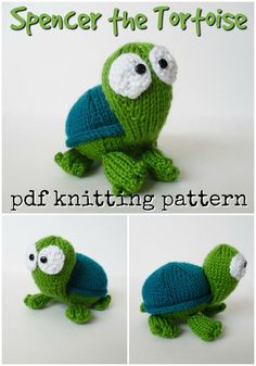 Super sweet knitting pattern for this amigurumi tortoise stuffed animal! Love this adorable turtle pattern! And knit instead of crochet! Animal Knitting Patterns, Amigurumi Patterns, Doll Patterns, Crochet Doll Pattern, Crochet Chart, Crochet Patterns, Crochet Toys, Diy Knitting Projects, Yarn Projects