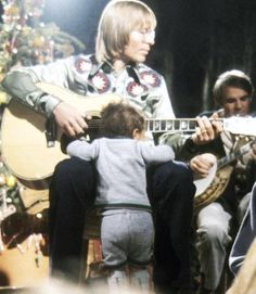 John Denver with his son, Zachary.