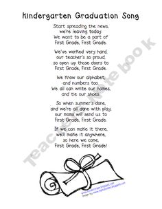 photograph regarding Were Moving Up to Kindergarten Printable Lyrics named 53 Simplest Kindergarten Commencement illustrations or photos within just 2016