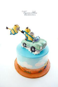 minions cake - Cake by Alina Vaganova