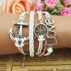 Anchor Hope infinity Antique Silver korea velvet by candyjewelry4u