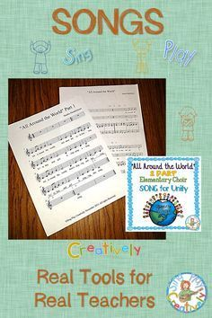 Acapella, 2 part and unison songs for beginning choirs. https://www.teacherspayteachers.com/Product/CHORAL-SONG-All-Around-the-World-Holiday-Friendship-World-Peace-Choir-2238690