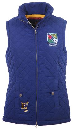 Lansdown Country Clothing Earlswood Gilet - Medieval Blue Stylish quilted bodywarmer Featuring two antiqued popper fastened pockets Lansdown Polo