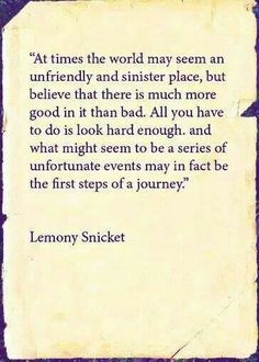"Lemony Snicket, ""A Series of Unfortunate Events"""