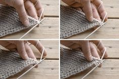 Knit the reinforced prop tip & easy