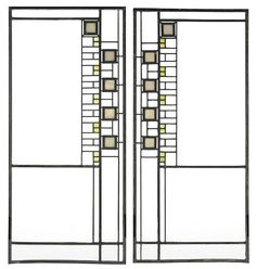Frank Lloyd Wright window. inspiration for a couple trellises used for privacy
