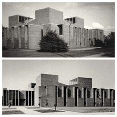Louis Kahn First Unitarian Church Rochester, NY 1962 #arquitecturaiglesias