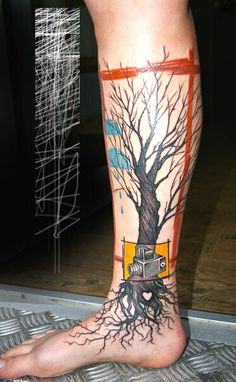 peter aurisch - calf tattoo