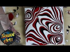 Fluid Acrylic Painting - Sharp Funky & Contrasting Lines - YouTube