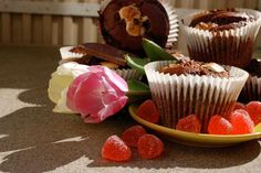 Amerikanska chokladmuffins med Dumle & sockerbitar
