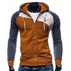 2017 Hoodies Men Sudaderas Hombre Hip Hop Mens Brand Leisure Zipper Jacket Hoodie Sweatshirt Slim Fit Men Hoody XXL