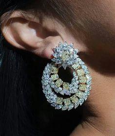 Diamond earrings designed to perfection. #Yessayan #Jewelry #Earrings #Diamonds