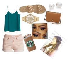 """""""Set #1: Something I Would Wear"""" by missaniyahjhane ❤ liked on Polyvore featuring MANGO, Jack Rogers, Michael Kors, Mikimoto, Tory Burch and Pieces"""