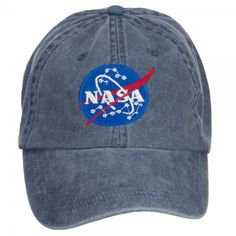 Embroidered Cap - Navy NASA Insignia Embroidered Cap // e4Hats