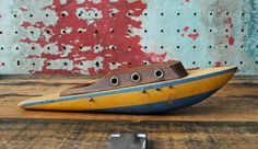 Vintage Wood Toy Boat.
