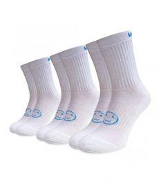 3 pack white blue sports socks Sports Socks, Calf Socks, Funny Socks, Calves, Perfect Fit, Blue, Fashion, Silly Socks, Moda