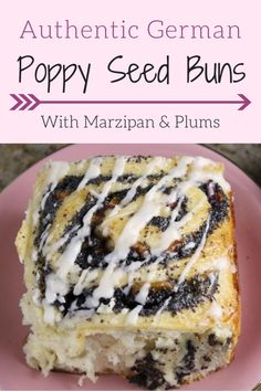 The best traditional recipe for German Poppy Seed Buns with a homemade poppy seed filling, marzipan and chopped prune plums! The perfect breakfast bun! Brunch Recipes, Fall Recipes, Sweet Recipes, Dessert Recipes, Bread Recipes, Poppy Seed Filling, Poppy Seed Cake, Poppy Seed Recipes, Austrian Recipes