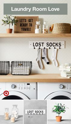 Add a little personality to your laundry room with fun and playful display signs. Room Collection - Hearth & Hand™ with MagnoliaAdd a little personality to your laundry room with fun and playful display signs. Laundry Room Inspiration, Room Renovation, Mudroom Laundry Room, Room Makeover, Dream Laundry Room, Laundry Room Remodel, Room Diy, Room Organization, Home Decor