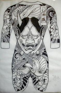 Oni Tattoo, Mask Tattoo, Tatuajes Irezumi, Tatuajes Tattoos, Irezumi Tattoos, Tatoos, Chinese Tattoo Designs, Japanese Tattoo Art, Japanese Sleeve Tattoos