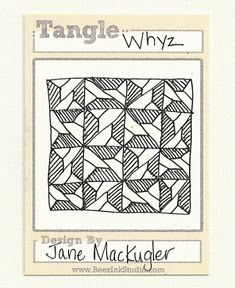 See Jane.: Whyz by Jane MacKugler, Certified Zentangle Teacher, go to Website for Step-out Instructions