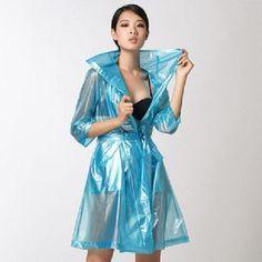 Vinyl Raincoat, Blue Raincoat, Pvc Raincoat, Plastic Raincoat, Plastic Pants, Imper Pvc, Rain Fashion, Plastic Beach, Rain Cape