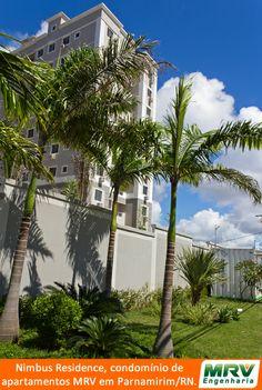 Paisagismo do Nimbus Residence em Parnamirim/RN. Condomínio fechado da MRV Engenharia.
