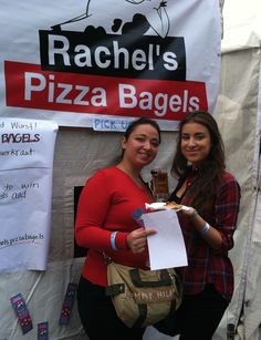 These ladies loved @RachelsPizzaBagels!  #veganpizza #pizza #veganoktoberfest