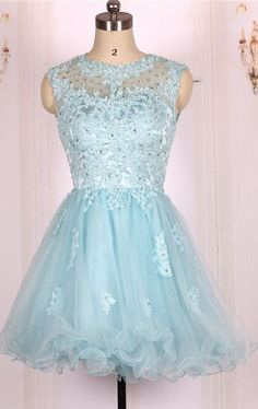 Tulle Homecoming Dress,Appliques Homecoming Dress,Tulle Graduation Dress,Knee-Length Prom Dress Hd002