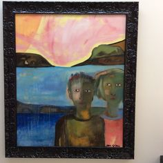 Life's a beach Oil on canvas -framed Sold Canvas Frame, Oil On Canvas, Jane Gray, Grey, Beach, Artist, Artwork, Painting, Gray