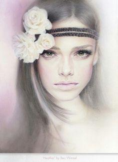 Австралийская художница Bec Winnel на протяжении уже многих лет рисует исключительно портреты красивых женщин. Эти прекрасные чувственные работы выполнены мягкой пастелью и цветными карандашами. Бек самоучка, она начала рисовать в раннем детстве. По образованию она графический дизайнер, а рисование женских портретов - это ее любимое хобби. Бек говорит, что если бы она не смогла больше рисовать, она бы свернулась калачиком и умерла.